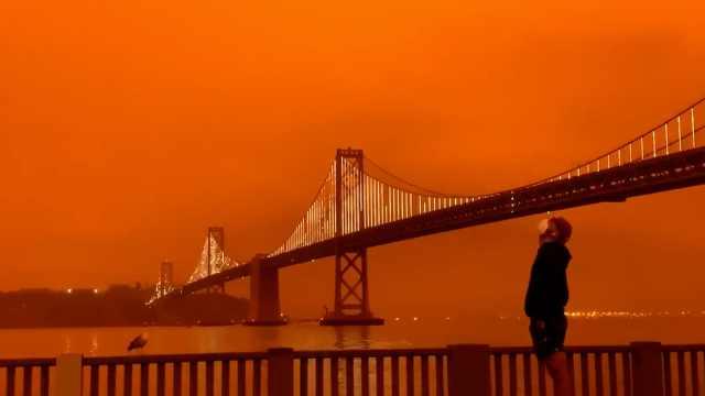 """""""世界末日2020""""上热搜!美山火蔓延多州,民众晒火星感天空照"""