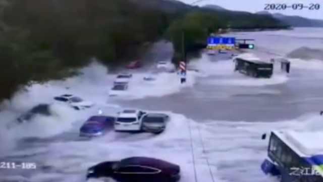 潮水全责!钱塘江漫堤致7辆车受损,6辆车获理赔有1辆未投保