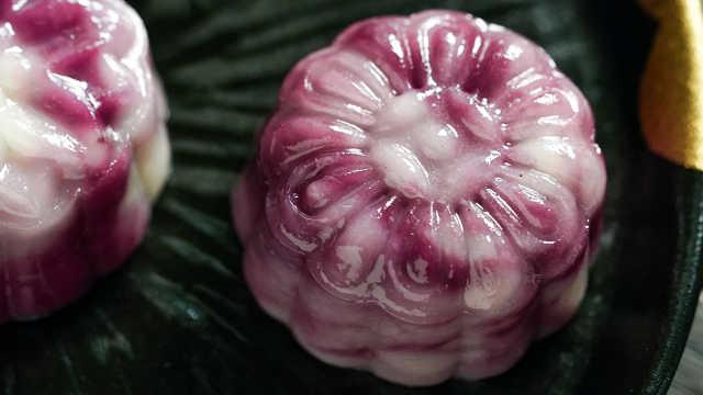 免烤水晶紫薯流心月饼,嫦娥见了都想下凡!