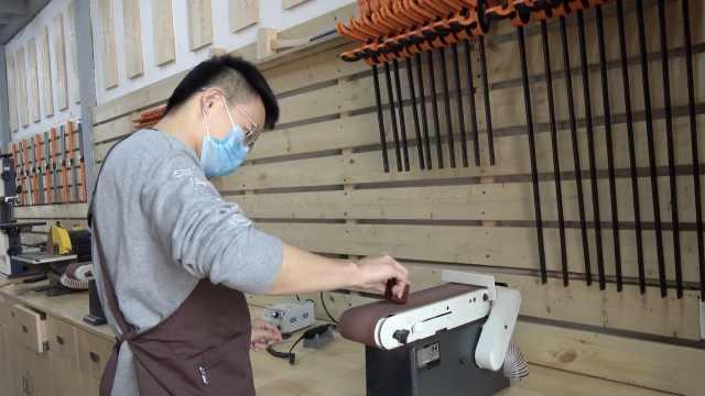 90后早教教师转行做木艺师,从勺子到自行车都能雕刻出