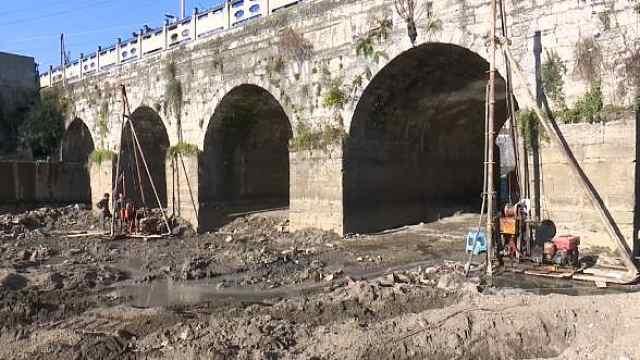 今天的官渡河桥最新进度来了~