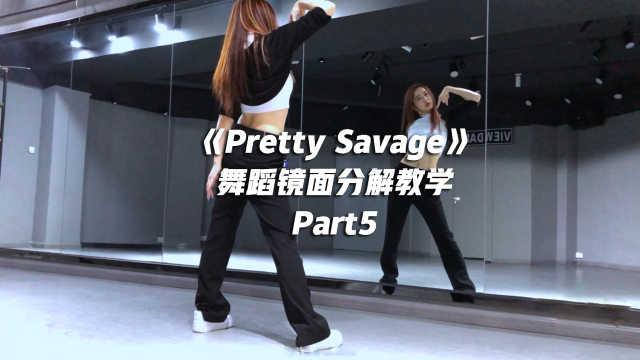 BLACKPINK《Pretty Savage》舞蹈镜面分解教学Part5