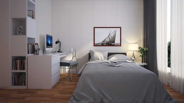 还在嫌小于9㎡的小卧室挤吗?看看这些设计,照样住得舒适!