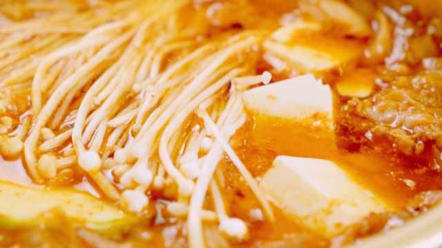 韩式豆腐汤这样做,酸辣开胃,一锅白米饭不够吃