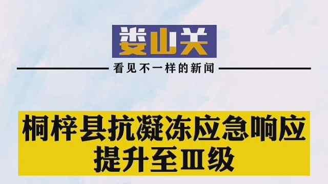 桐梓县抗凝冻应急响应提升至Ⅲ级