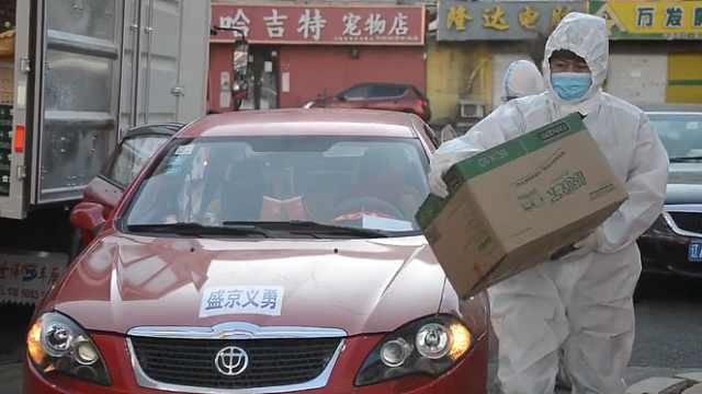 修车厂老板停业加入管控区志愿者,为省防护服不吃午饭不喝水