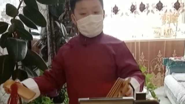 10岁男孩创作百个快板段子直播宣传防疫:希望岳云鹏点个赞