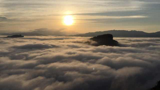 航拍武夷山:日出云海,九曲溪流