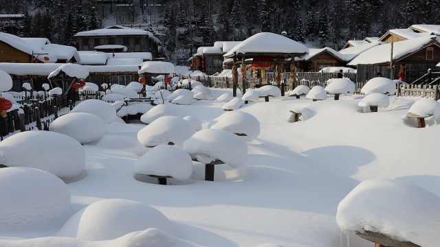 带你走进童话世界!积雪厚达2米,黑龙江雪乡美如仙境