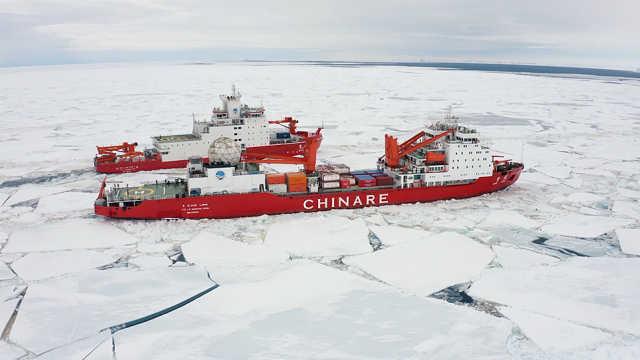 通往中山站的艰难冰路,雪龙2号双向破冰技术屡立奇功