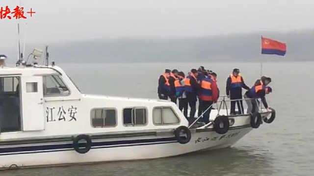 """长江扬州段再现""""江豚拜风""""奇景"""