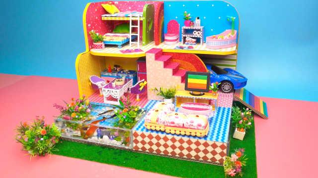 DIY迷你娃娃屋,超豪华的星光度假别墅