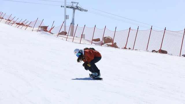 雪期可达7个月!航拍新疆可可托海滑雪场