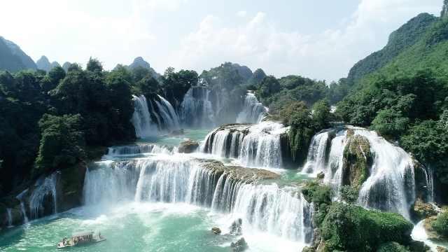 这里是亚洲最大跨国瀑布,《花千骨》的长留仙境