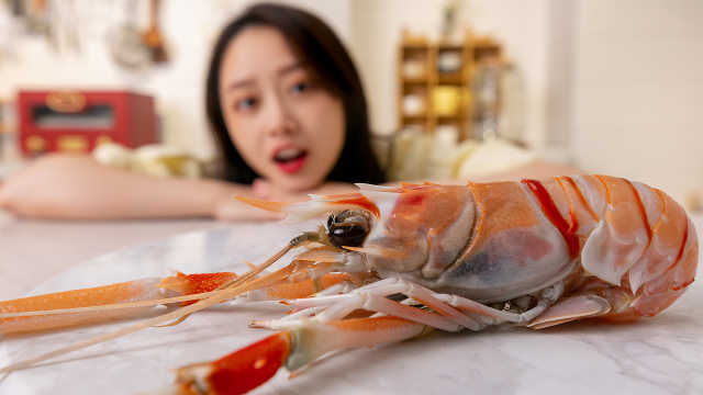 血亏!用500一公斤的深海鳌虾做虾饺