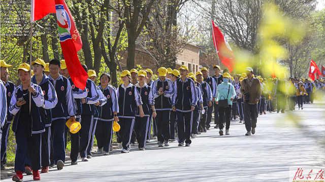 庆阳一中2020级高一全体师生赴南小河g开展远足实践活动