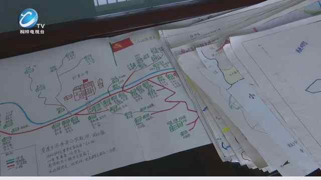 """黄莲乡学校教师的""""宝贝""""——手工家访地图"""