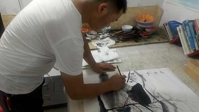 他辞去高薪工作专心画画:画出成功作品,情绪可以高涨好几天