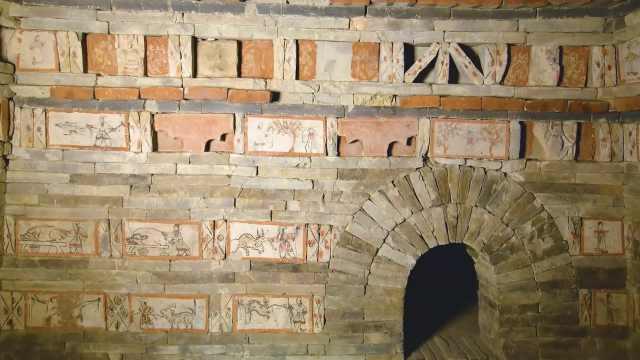 1700年前古人如何撸串?这套壁画展示了手抓羊肉制作全过程