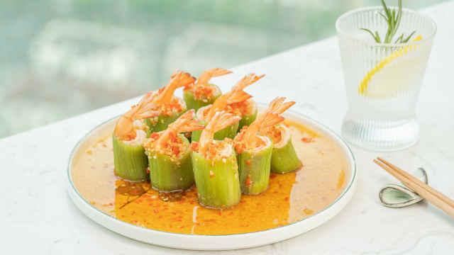 鲜美爽脆有营养,一口美味「丝瓜酿虾」