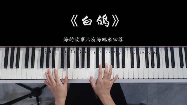 【钢琴】你的上好佳《白鸽》,教堂的白鸽不会亲吻乌鸦!