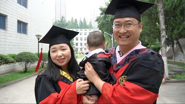 11月大宝宝1天参加两场博士父母毕业典礼:专门给准备学士服