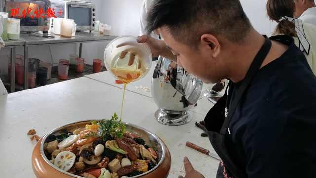 看饿了!徐州小伙做菜品模型走红,横店影视城是老客户
