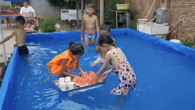 别人的爸爸!担心4岁儿子在外溺水,自建游泳池材料仅85元