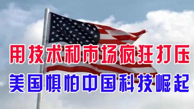 用技术和市场疯狂打压,美国惧怕中国科技崛起