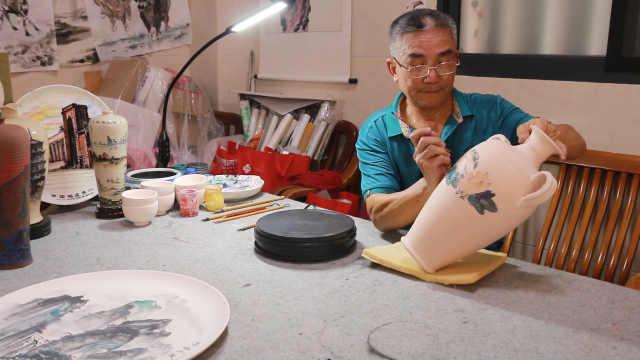 泉州农民画家瓷盘上彩绘申遗点22景:让全世界了解陶瓷技艺