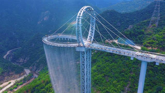 和爱的人一起去清远,走世界最长的玻璃悬廊