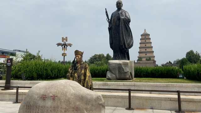 男子模仿铜人玄奘徒步4千里到西安:计划重走玄奘路