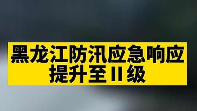 注意防范!黑龙江防汛应急响应提升至Ⅱ级