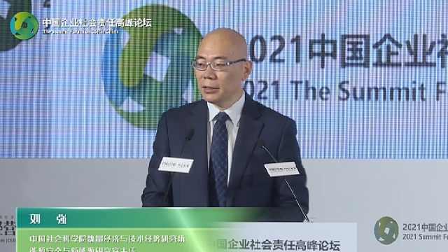 刘强:碳中和碳达峰是一个约束,而不是一个目标