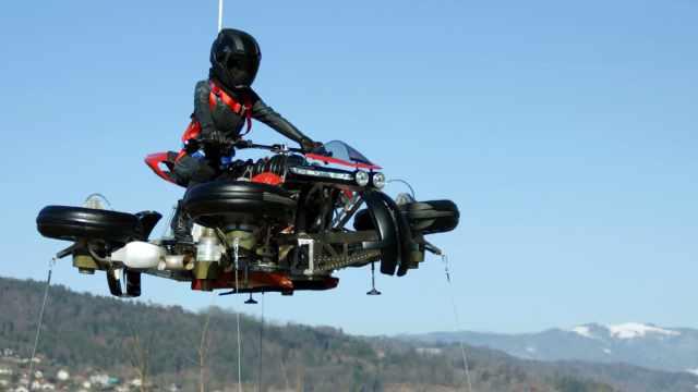 让摩托车飞一会儿,空陆两栖,颠覆你的想象!
