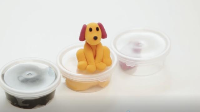 蛋壳亲子教程—— 手工黏土小狗