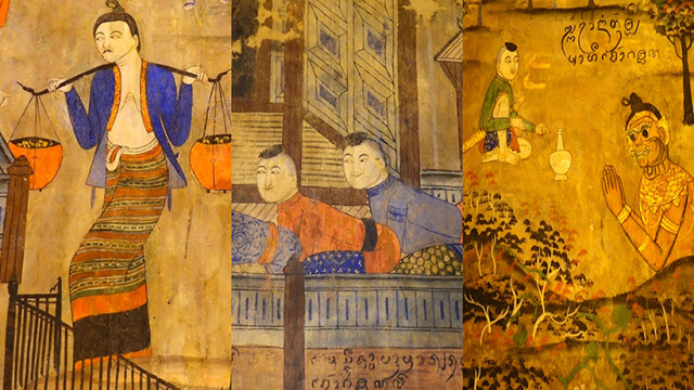 惊艳奔放风流妩媚的泰国寺庙壁画