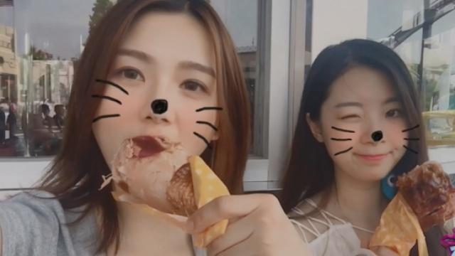 超美姐妹花逛吃大阪环球影城