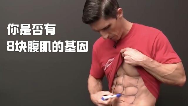 你是否有八块腹肌的基因?