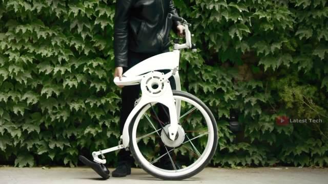 炫酷电动自行车,一秒折叠!