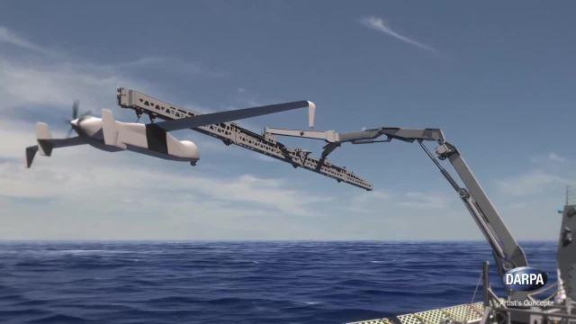 美国国防部军用无人机抓取回收系统