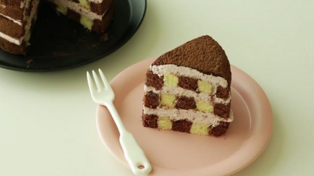 草莓奶油巧克力蛋糕