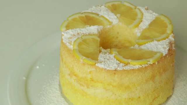 柠檬戚风蛋糕,低卡又清新