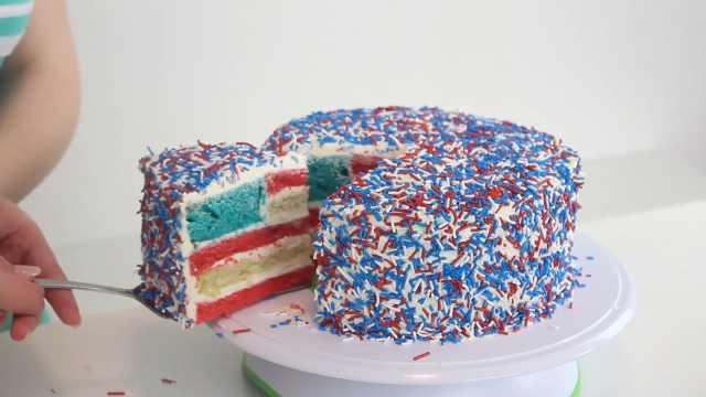 惊喜的星条旗蛋糕又来了