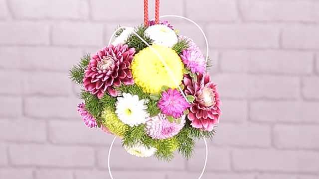 让球形的花艺给你带来好心情