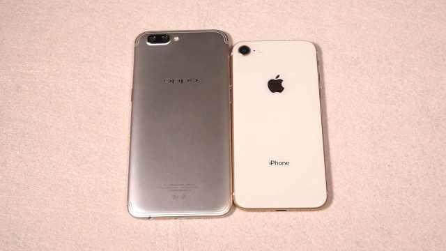 oppo R11对比iPhone8!