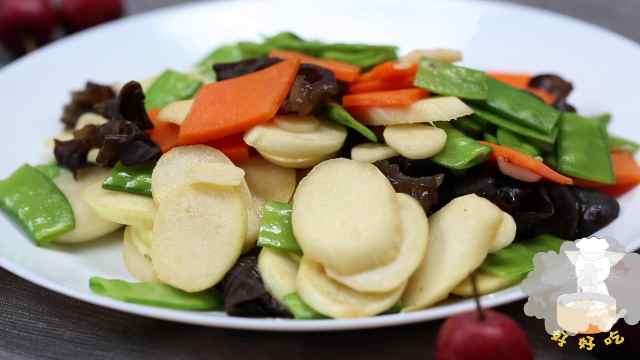 荷兰豆最好吃的做法:荷兰豆炒茭白