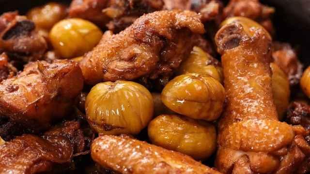 板栗处理得好,烧鸡肉更好吃!