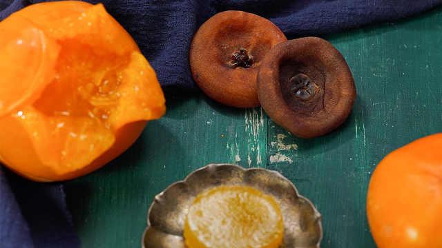 暖柿子和脆柿子的吃法都包括了