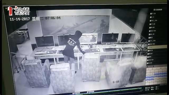 """男子专盗网吧熟睡""""网虫"""""""